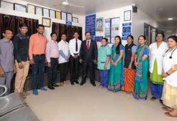 Dr. Parag Hitnalikar With Staff